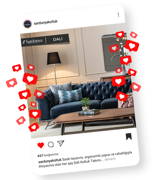 sardunya mobilya instagram